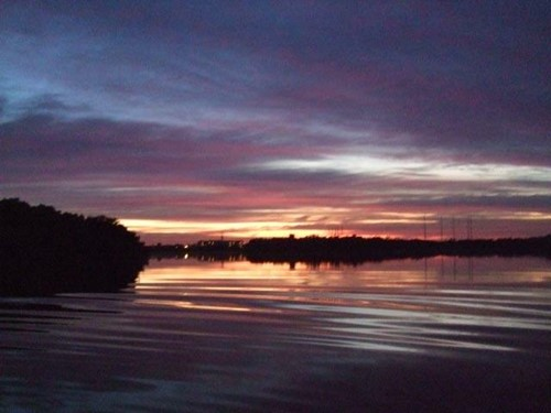 Sunset photo at Upriver RV Resort