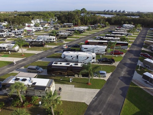 RV Super site at Upriver RV Resort