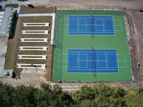New Tennis / Pickle Ball Courts and Horseshoe Courts
