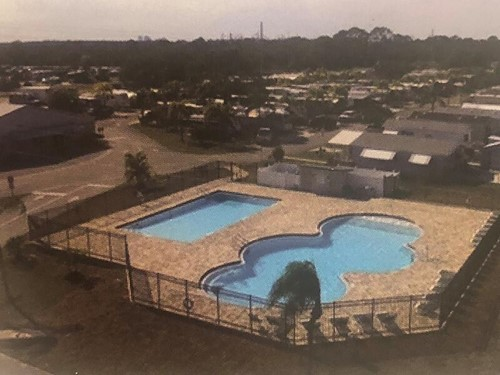 Two pools at Upriver RV Resort